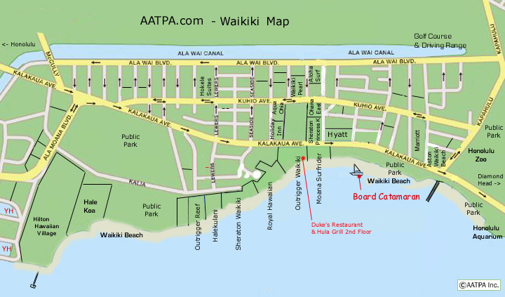 graphic relating to Printable Map of Waikiki titled - Costs Web page - AATPA, Inc